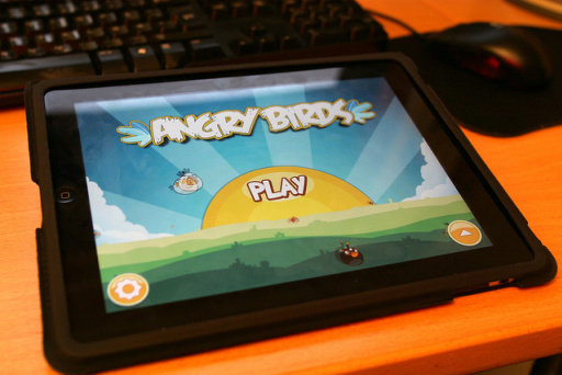 gioco Angry Birds su tablet