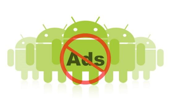 logo Android con simbolo contro Ads