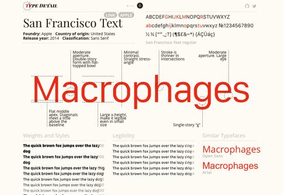 esempio tipografia