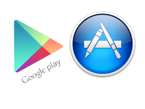 logo Google Play ed Apple Store