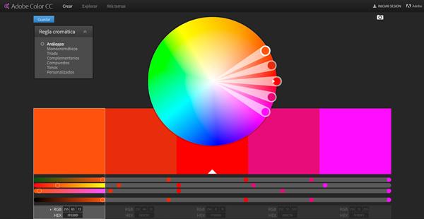 schermata Adobe Color