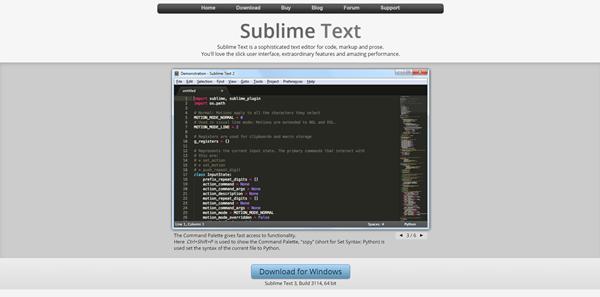 schermata Sublime Text