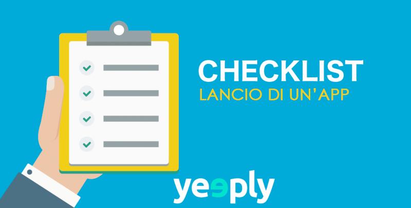 Checklist: Lancio di nuove app