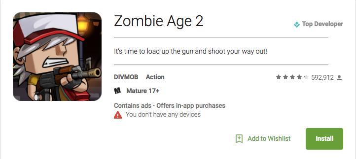gioco Zombie Age 2