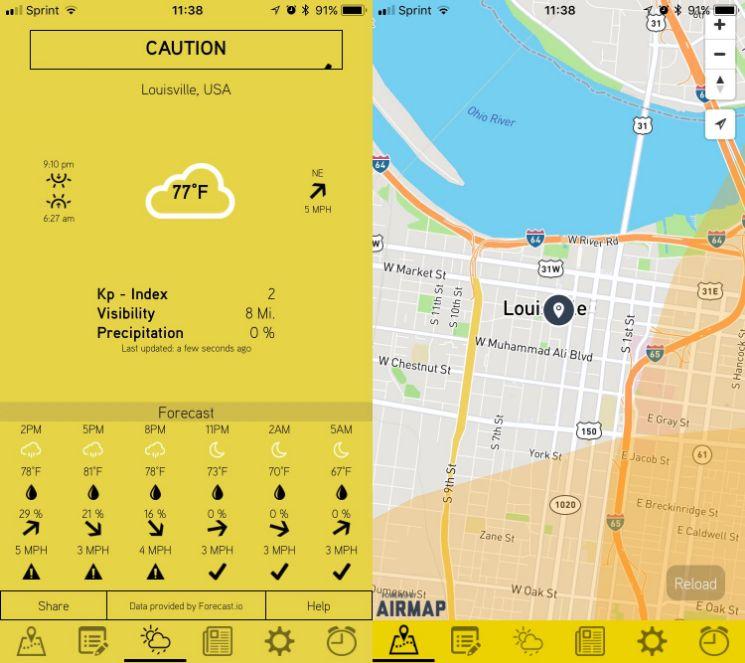 Hover app- app per droni