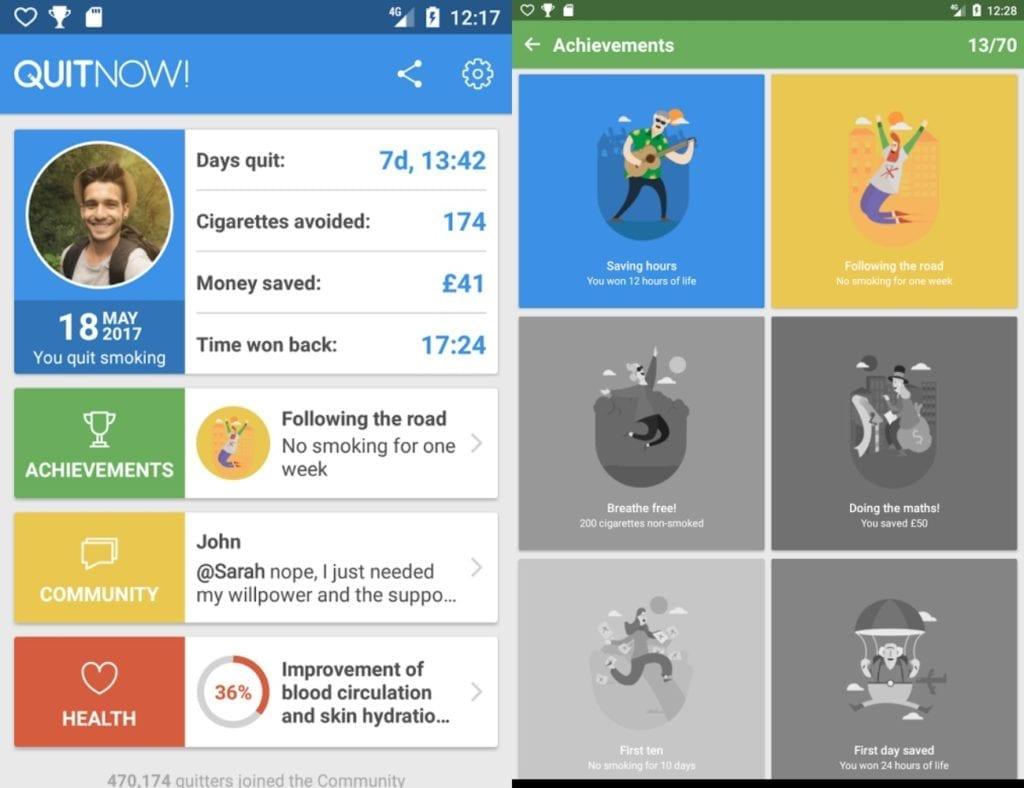 app per la salute quit now