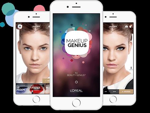 screenshot di applicazione per make-up