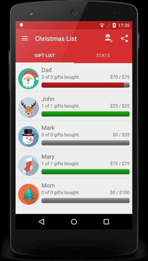 screenshot di applicazione natalizia