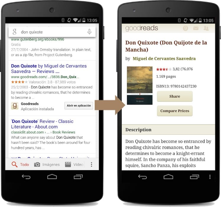 Deep linking example - Deep linking Android