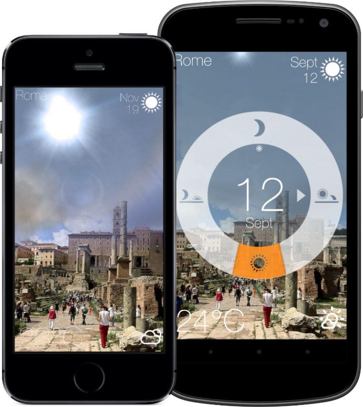 due smartphone con applicazione meteo