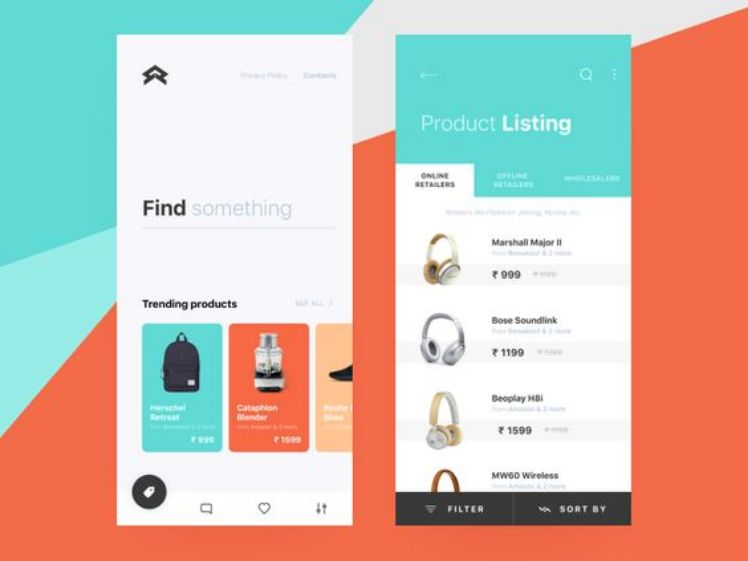 screenshot app e-commerce