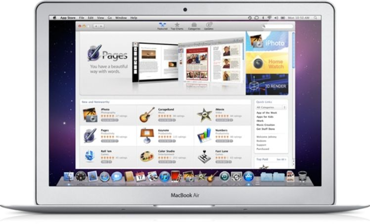 MacBook Air con visione sul Apple Store