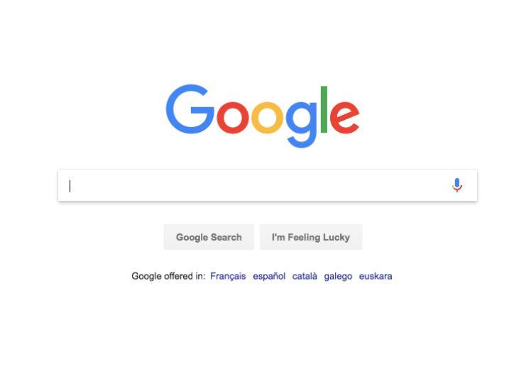 Pagina principale del motore di ricerca di Google