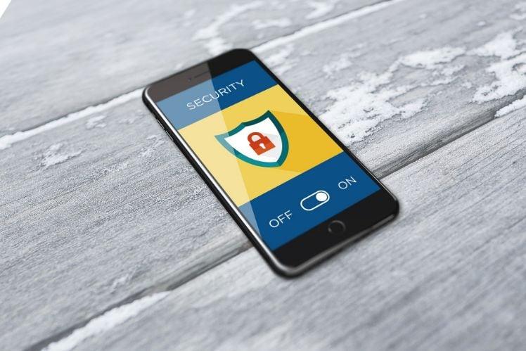smartphone con sicurezza attiva
