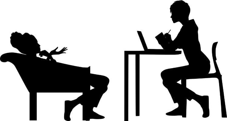disegno di due persone sedute