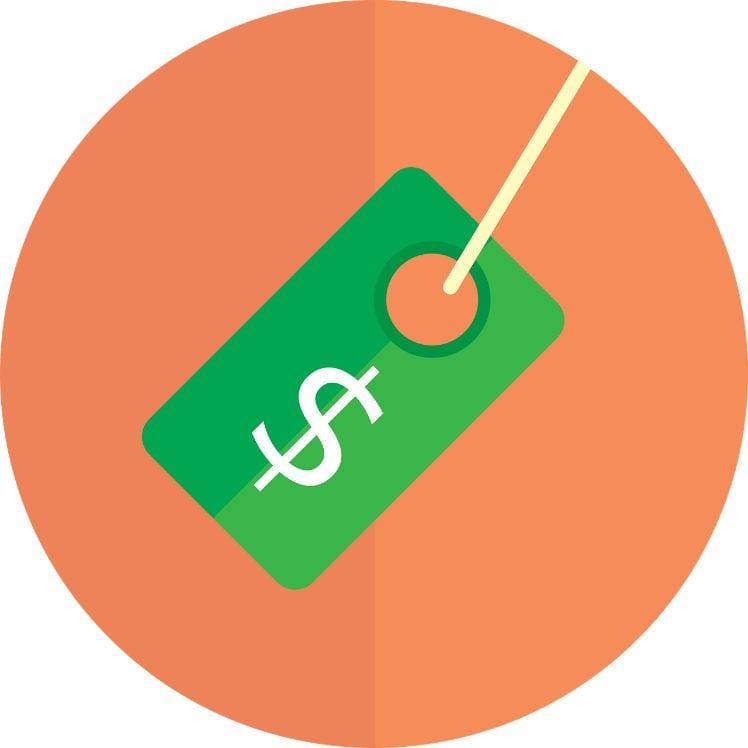 disegno di icona di prezzo