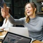 business woman - partner digital