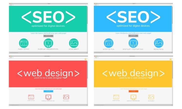 grafica con SEO e web design