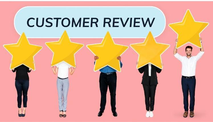 review cliente positiva a cinque stelle