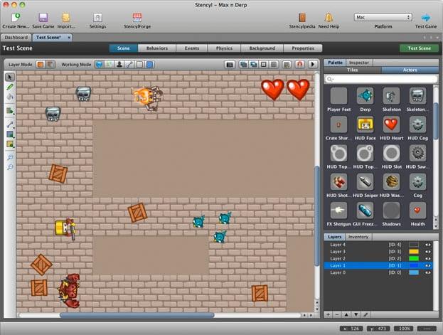 screenshot di un videogioco 2d