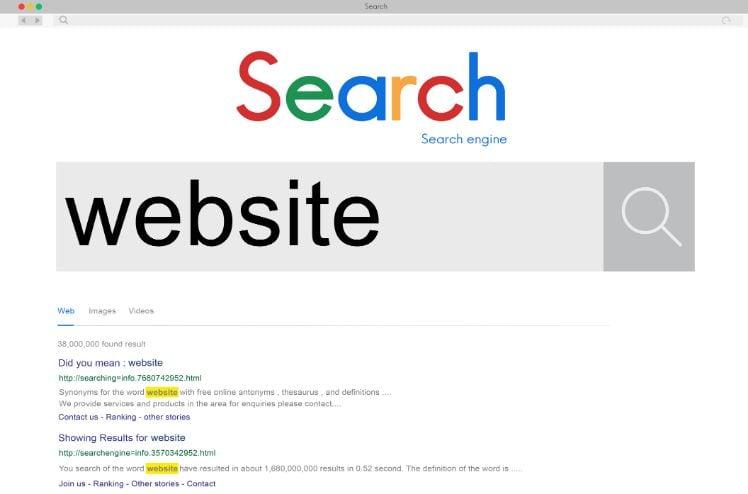 motore di ricerca - errori di web design