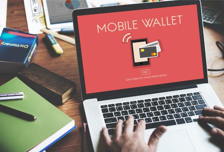 schermata computer con m-wallets