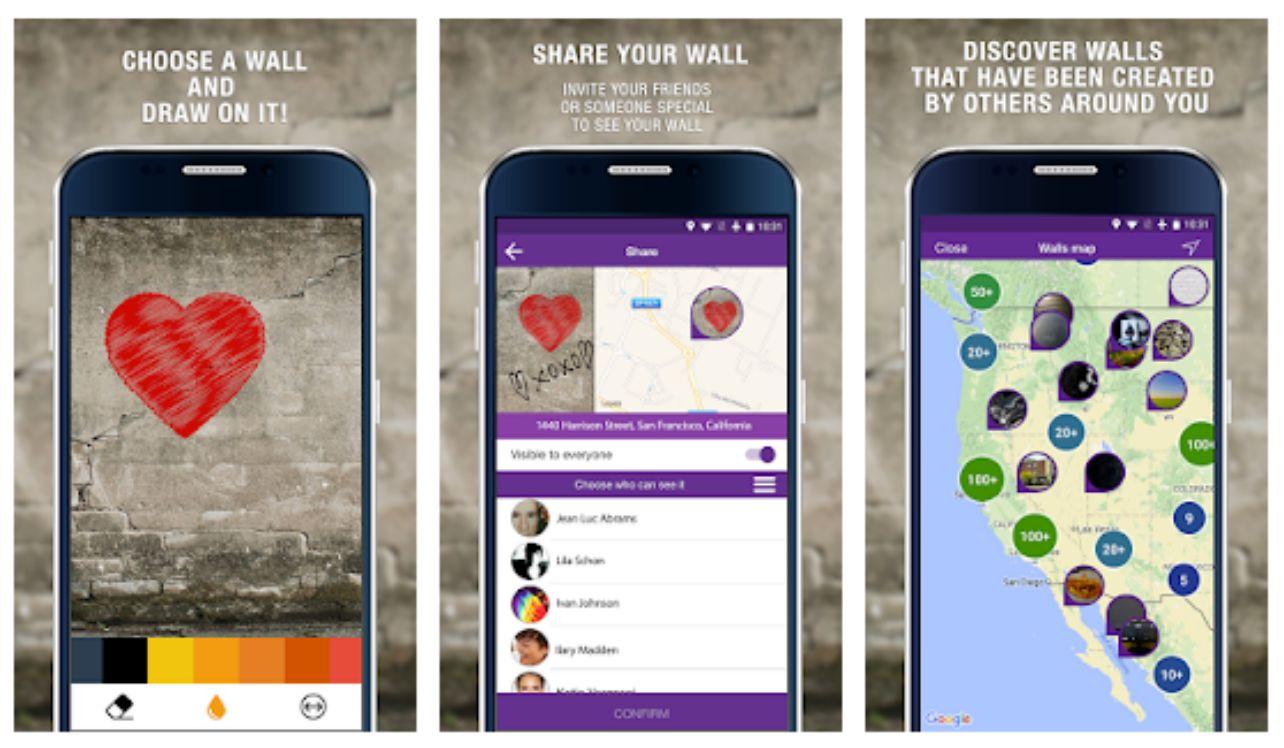 screenshot applicazione Wallame