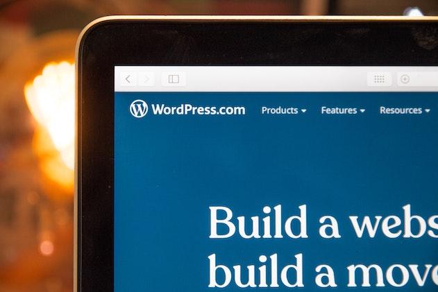 screenshot di una pagina di WordPress