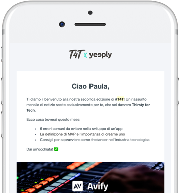 yeeply newsletter