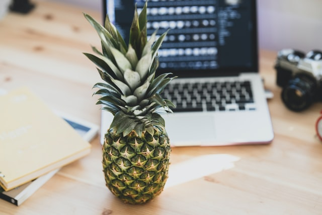 ananas e laptop